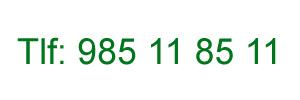 Teléfono 985118511